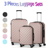 Suitcase Lightweight Luggage With Spinner Wheels 3 Piece Set 20quot; 24quot; 28quot; NEW