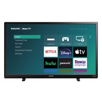Philips TV 32 Inch Class HD 720P Smart Roku LED Television NEW FAST SHIPPING $296.98