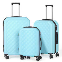 Suitcase Lightweight Luggage With Spinner Wheels 3 Piece Set 20quot; 24quot; 28quot; US