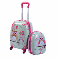 Babyjoy 2 PCS 12quot; 16quot; Kids Luggage Set Suitcase Backpack School Travel Trolley