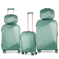 5 PCS Travel Spinner Luggage Set ABS Trolley Carry On Suitcase 12quot;14quot;20quot;24quot;28quot;