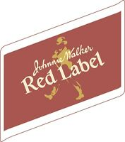 JOHNNIE WALKER Red Label Sticker Decal *DIFFERENT SIZES* Whiskey Bar Wall
