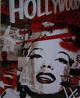 Marilyn Monroe Hollywood Icon Celebrity Collage Metal Sign