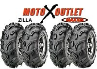 Maxxis Zilla Atv Tires 25x8-12 25x10-12 Utv Set of 4 25