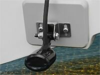 Stern Saver glue-on transducer mounting system for Klamath Aluminum Boats