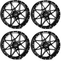 4 ATV/UTV Wheels Set 14in ITP Tornado Matte Black 4/110 5+2/2+5 SRA