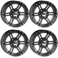 4 ATV/UTV Wheels Set 14in ITP SS212 Matte Black 4/110 4+2/5+3 IRS