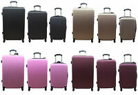 20quot; 24quot; 28quot; Hard Shell Cabin Suitcase 4 Wheel Luggage Spinner Lightweight