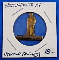 1939 New York World#x27;s Fair Westinghouse Advertising Pin Pinback Button 1quot;