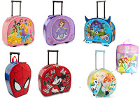 Disney Store Rolling Luggage Overnight Case Minnie Princess Spiderman Monsters