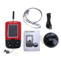 XJ-01 Rechargeable Portable Fish Finder with Wireless Sonar Sensor LCD Display