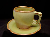 Plainsman Green by Frankoma CUP amp; SAUCER 3 1 4quot;