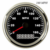 85mm Black GPS Speedometer Gauge 0-160MPH for Car Truck Motorcycle ATV US STOCK