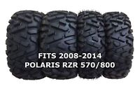 Set of 4 WANDA ATV/UTV Tires 25X8-12 25X10-12 for 2008-2014 POLARIS RZR 570/800