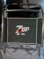 Vintage 7up Red Spot Aluminum Lawn or Beach Chair