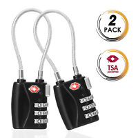 TSA Approved Travel Combination Cable Luggage Locks for Suitcases -124 5-Pack