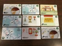 9 Rare Starbucks coffee 2015 Co-Branded Corporate Cards no value