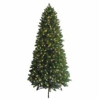 GE Santas Best 9 ft. LED Pre-Lit Nordic Pine Tree w/ EZ SHAPE Warm White Lights