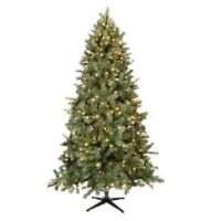 Home Accents 7.5' Pre-Lit LED Wesley Mixed Pine Christmas Tree Warm White