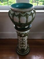 Wardle Art Pottery jardiniere and matching base