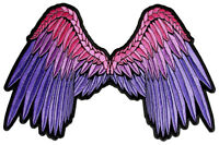 Sexy Pink, Purple Angel Wings Lady Rider Embroidered Biker Patch FREE SHIP