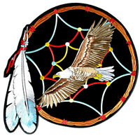 Eagle, Feathers Native Indian Dream Catcher Patch FREE SHIP