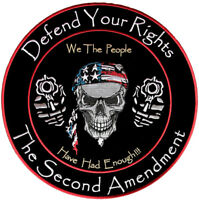Patriotic Defend Your Rights 2nd Amendment Patch