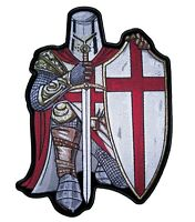 Christian Red and White Crusader Knight Patch FREE SHIP