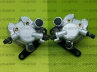 Front Right Left Brake Calipers For 2002-08 Yamaha Grizzly 660 YFM660 With Pads