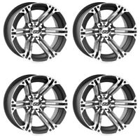4 ATV/UTV Wheels Set 12in ITP SS212 Machined 4/110 5+2 VIK