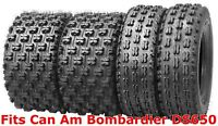 Set 4 Wanda Sport ATV tires 22x7-10 & 20x10-9 Can Am Bombardier DS650 GNCC Race