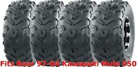 Set 4 WANDA ATV tires 22x9-10 Front & 22x11-10 Rear 97-04 Kawasaki Mule 550