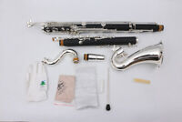NEW Bass Clarinet Model PADS And Case Low c Nice Tone Silver Plated #AA
