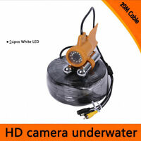 20/30M Cable Underwater Fishing Camera Color Video 600TVL CCD 24pcs LED