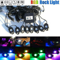 8x RGB LED Rock Lights Bluetooth Waterproof for Ford Off Road Truck  ATV SUV