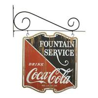 Coca-Cola Wall Mounted Double Sided Hanging Pub Style Sign, Vintage Advertising