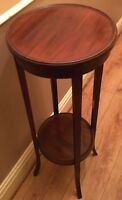 Antique Victorian Mahogany Two Tier Jardiniere Stand