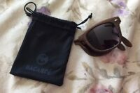 Folding Pocket Sunglasses Woodgrain Compact Fold Up Brown Bacardi Glasses