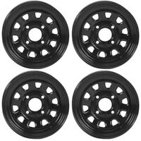 4 ATV/UTV Wheels Set 14in ITP Delta Steel Black 4/110 5+2/2+5 SRA
