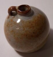 Columbus Nicodemus American red clay art pottery small handled jug 1 1/2