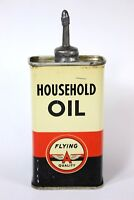 Vintage Flying A Lead Top Household Oil Advertising 4 oz.  Oiler Tin Can - NICE