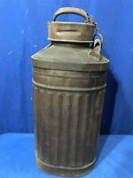 Vintage Ellisco Embossed 5 Gallon Oil Gas Can Container FREE SHIPPING STAMP 345