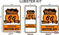 KIT- PHILLIPS 66 FRONT LUBSTER DECAL COMPLETE KIT OIL TANK GAS GASOLINE