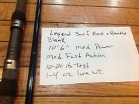 St.Croix Legend Surf rod Blank and handle for a 10'6