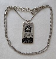 BRIGHTON Girl Should be two things Chic amp; Mysterious Pendant Ball Chain Necklace