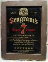 Collectible Original Seagram's 7 Mirror Glass Sign 15