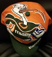 a472d29f70e Vintage Rare The Game Miami Hurricanes Snapback Hat Cap Big Logo NWT Brand  New!