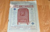 Vintage '26-'27 Stoves/Ranges/Heaters House Hasson Hardware Catalog Knoxville TN