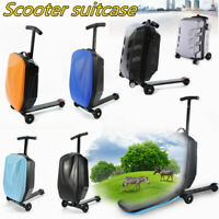 PC Scooter Travel Carry Luggage Suitcase Skateboard Travel Storage Wheels Case