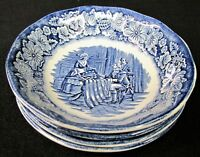 4-LIBERTY BLUE Staffordshire 5-inch Dessert/Fruit Bowl, Betsy Ross